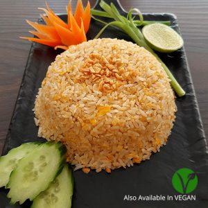 Thai Style Garlic Fried rice, vegan garlic fried rice